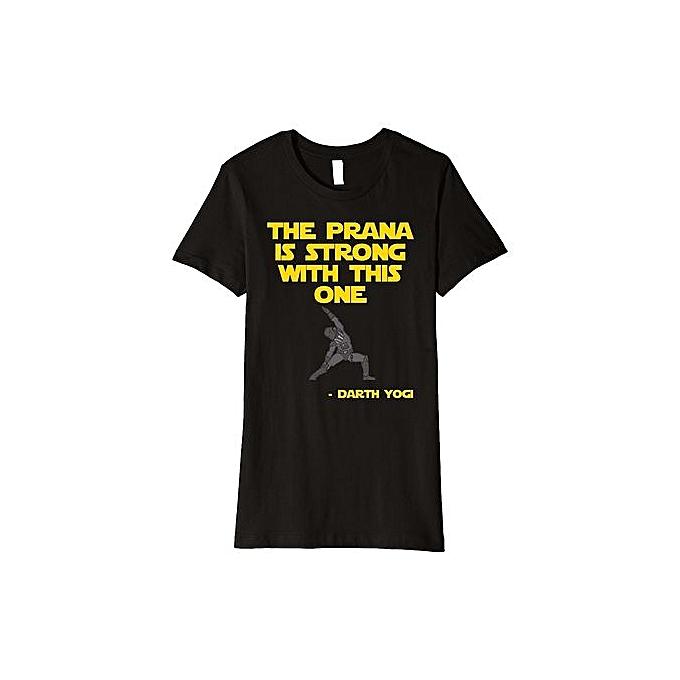 d2846c731 DIY Cotton Funny Tee Shirts Funny Yoga Shirts - Darth Yogi Yoga T-Shirt Size