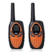 8 Channel Twin Walkie Talkies UHF400-470MHZ 2-Way Radio 3KM Range Interphone - Orange