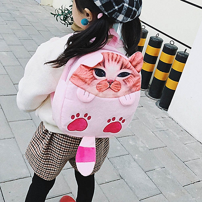 6d966b2bd28c Fashion shioakp Kids Cartoon Cat Backpack Kindergarten Children Cute School  Bag Baby Schoolbag