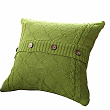 Knitting Button Fashion Throw Pillow Cases Cafe Sofa Cushion Cover Home Decor