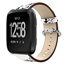 For Fitbit Versa Printing Leather Accessory Band Bracelet Watchband B