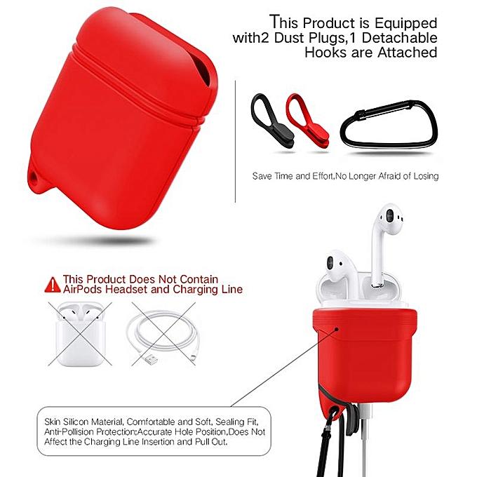 ... Waterproof Shockproof Earphone Headphone Storage Case Box Bag With Hook For Apple Air Pods AirPods ...
