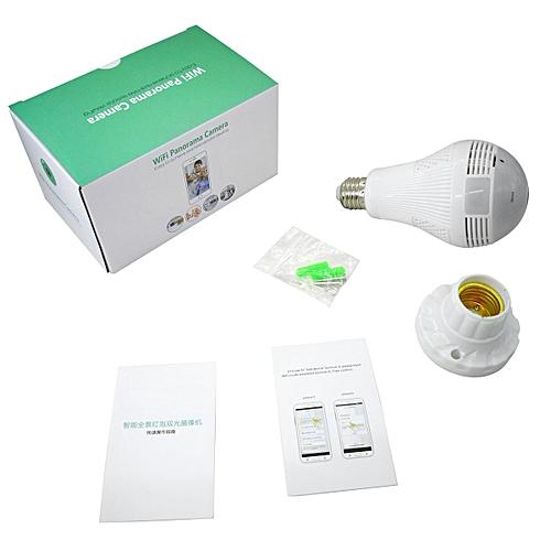 Good Quality Promotion 960P Panoramic Wifi Bulb Lamp Camera iCsee APP