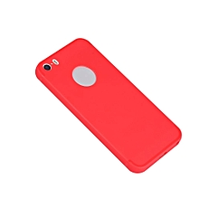 CO Silicone Matte Back Cover Shockproof Protective Phone Case Shell For iPhone-Red