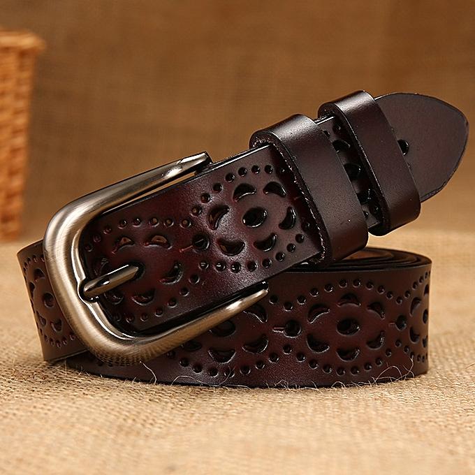 a9078e700 Women's leather belt fashion wild ladies belt women's clothing with pin  buckle leather belt-110CM