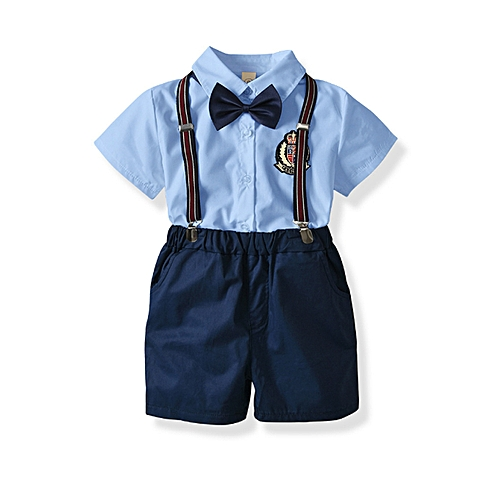 4d698e5f48623 Baby Boy Clothing Sets Short Sleeve Shirt Suits Bow Tie Children Kids  Clothes