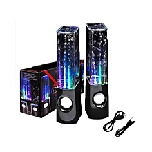 Creative Bluetooth Speaker Colorful Light Fountain Water Dancing Speakers - Black