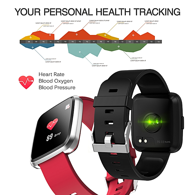 Smart Watch 1 3In Full Screen Touch Fitness Tracker Watch IP67 Smart  Bracelet with Heart Rate Activity Tracking Step Counter Calorie Counter  Sleep