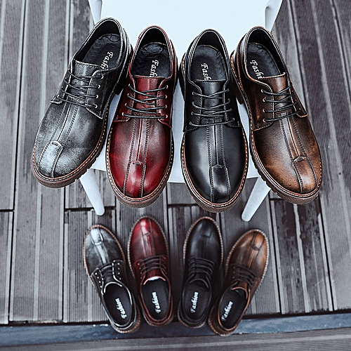 73dfd3352d Generic Soft-soled small leather shoes Men s leisure shoes Fashion leather  leisure shoes Black men s shoes