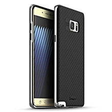 """For Samsung Galaxy Note 7 Case TPU + PC Frame Silicon Case Cover For Samsung Galaxy Note7 5.8"""" Dual Layered Shell(Silver)"""