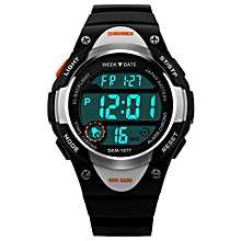 SKMEI Digital Watch Sports Watches Boy Girls LED Alarm Stopwatch Wrist Watch BK