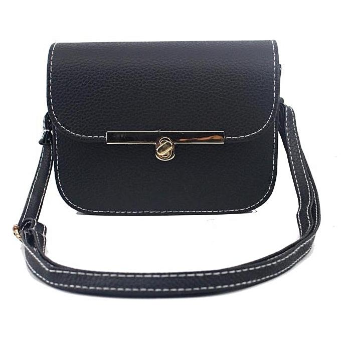ab7367bbdd Africanmall store Women Fashion Handbag Shoulder Bag Large Tote Ladies Purse  BK- Black