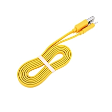 X5 - Anti-twist Charging Cord for iphone 1M 5V 2.4A - Yellow