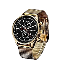 New Gold Quartz Watches Men Top Brand Luxury Wrist Watches Golden Clock Male Relogio Masculino Quartz-Watch 8227