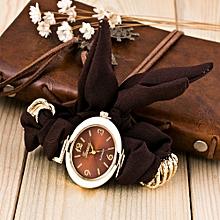 Fashion Cute Women Quartz Bracelet Fabric Analog Wrap Wrist Watch Gift BW