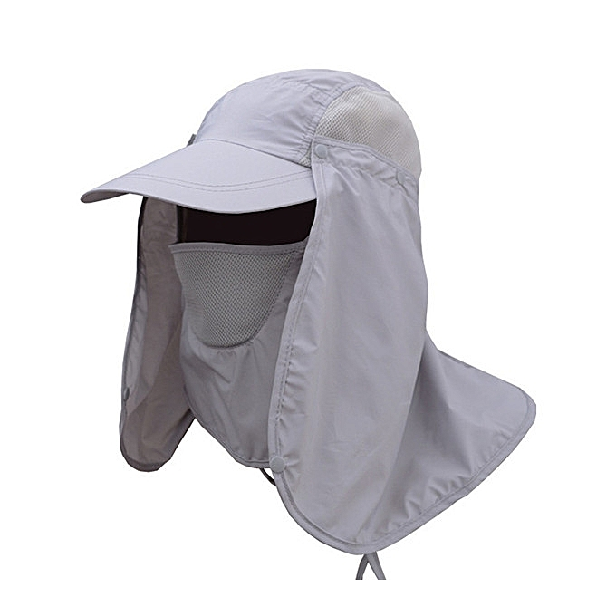 2d9b1c5048a ... Mens Quick Dry Neck Cover Sun Fishing Hat Ear Flap Bucket Outdoor UV  Protection Cap ...