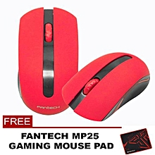 Fantech W556 2.4 Ghz Wireless Professional Office Mouse with Precision Scroll Button for Computer PC or Laptop (Red) HT