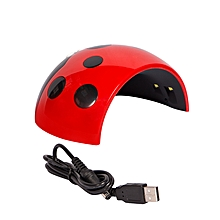 Cute Ladybug UV And LED Nail Lamp Dryer With 3 Integrated Timers