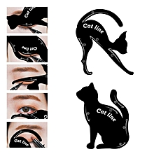 2pcs/Set Cat Eyeliner Eyeshadow Stencils Templates Make Up Tools For Eye Makeup Cat Eye Line Guide Cosmetic