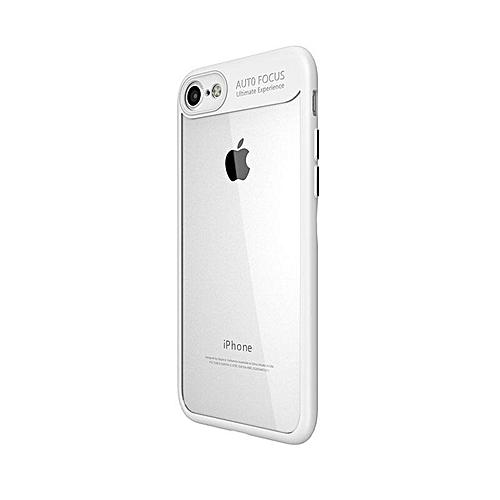the latest d9671 4e83e TPU silicone + transparent PC iPhone 6/6s Case White