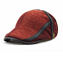 Unisex Knitted Beret Hat Knitting Beret Caps Adjustable Paper Boy Newsboy Cabbie Gentleman Hat