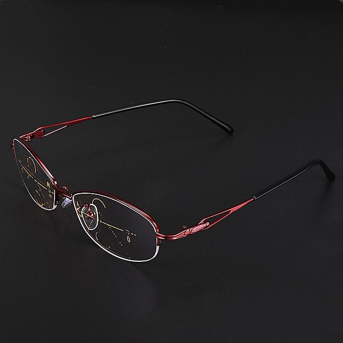 ... KCASA Progressive Multifocal Lens Presbyopia Reading Glasses Alloy  Frame Anti Fatigue 7c8024b3438f