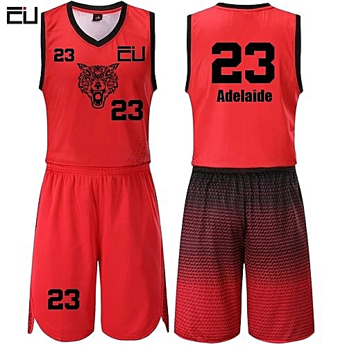 b60dbb1a0 Longo Casual Men s Customized Basketball Team Sports Jersey Uniform-Red (JL-817)
