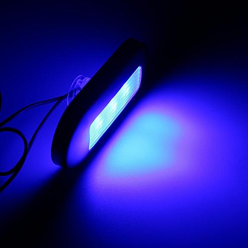 1x Surface Mount Courtesy Accent LED Light Marine Boat RV White/Blue  Universal