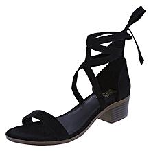 647c75e33fad Brash Women  039 s Uli Leg Wrap Block Heel - Black