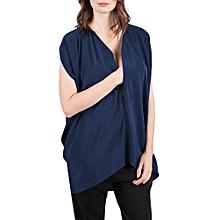 ba5bb28c358c5 Maternity Pregnant Women V Neck Nursing Top Front Zip Breastfeeding Shirt  Blouse