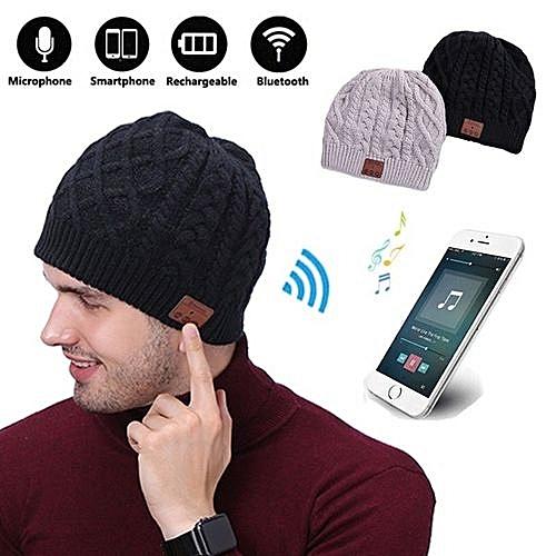 Generic Colour  Black--Warm Soft Beanie Wireless Bluetooth Hat Cap Headset  Headphone Speaker Mic Stero Voice 8291c351562