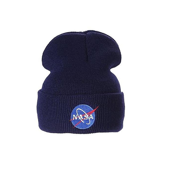NASA Warm Outdoor Ski Beanie Cap Winter Crochet Hip Hop Hat For Men   Women  - 54f8ad9a34f