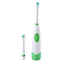 Electric Oral Hygiene Dental Care Toothbrush with 2 Brush Heads (GREEN)