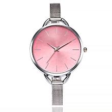 Fohting  Vansvar Casual Quartz Stainless Steel Band Newv Strap Watch Analog Wrist Watch -Red