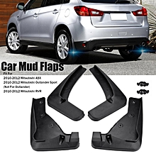 4Pcs Front Rear Mud Flaps Guards Splash Fender For Mitsubishi ASX Outlander Sport RVR 2010-2012