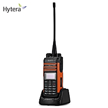 Hytera TD580 Portable UHF 350 - 470MHz DMR Transceiver LED Display-BLACK AND ORANGE
