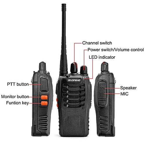 BF-888S UHF 400-470 MHz Handheld Walkie Talkie 2-way Ham Radio