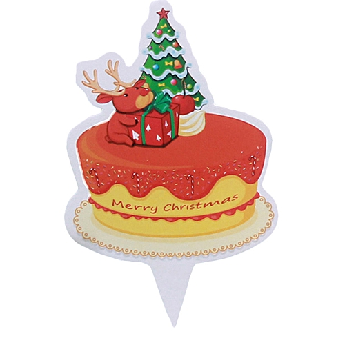 Merry Christmas Decor Flag Birthday Cake Gift Home Children Kids Santa Snowman