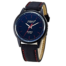 SBAO Fashionable Personality Trends Symphony Mirror High-grade Business Belt Watch- Red