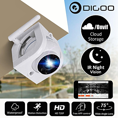 3 6mm 720P IP Camera For Home Security Cloud Storage Waterproof Outdoor  Wifi Video Surveillance Camera Night Vision Alarm Onvif(3 6mm)