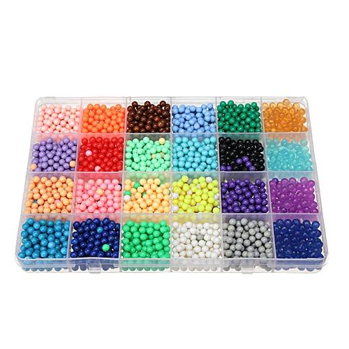 6000Pcs Aqua Refill Water Bead 3D Puzzle Educational Art StickyToys Gift  Kit DIY