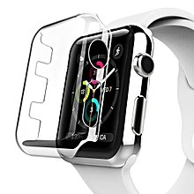 For Apple Watch Series 3 42mm Transparent PC Protective Case
