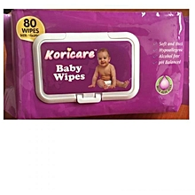 Koricare Baby Disposable Wet Wipes 80PCS