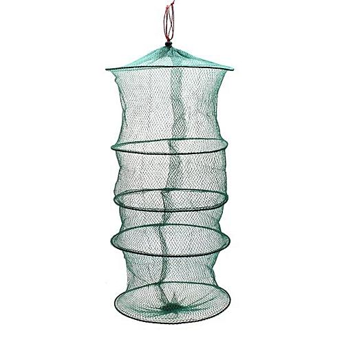 Generic Folding Round Metal Frame Nylon Mesh Crab Fish Fishing Landing Net- Green 5 @ Best Price | Jumia Kenya