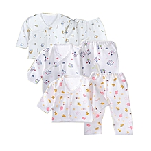 3 Pieces Baby underwear set Colored Cotton Tie baby Clothes 0-3 months