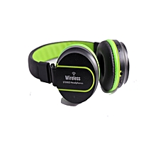 Az 01 - Wireless Stereo Hifi Bluetooth Headphones - Black & Green
