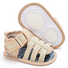 bluerdream-Baby Infant Kids Girl Boys Soft Sole Crib Toddler Newborn Sandals Shoes-Khaki