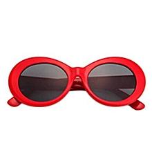 Hequeen  Vintage Nirvana Kurt Cobain Round Sunglasses For Women Men Mirrored Glasses