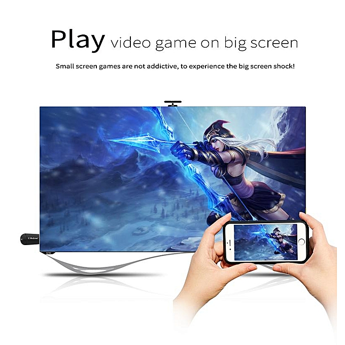 PULIERDE K6 4K Wifi Display Dongle 5G Dual-band Wifi Stream Dongle Airplay  Miracast DLNA For iPhone/MacBook/Android/Samsung/Laptop (4K Dongle)