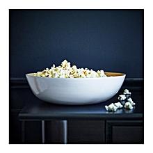 Serving bowl, Bamboo - White